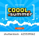 cool summer sea and beach | Shutterstock .eps vector #625539062