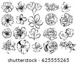 flower set | Shutterstock .eps vector #625555265