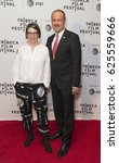 Small photo of New York, NY USA - April 21, 2017: Petra Volpe, Ambassador Andre Schaller attend The Divine Order Premiere during 2017 Tribeca Film Festival at Cinepolis Chelsea