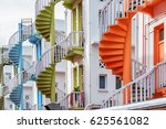 scenic colorful exterior spiral ... | Shutterstock . vector #625561082