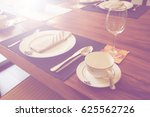 vintage dining table and... | Shutterstock . vector #625562726