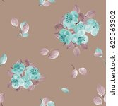 Seamless Pattern Of Turquoise...
