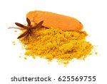 turmeric powder | Shutterstock . vector #625569755