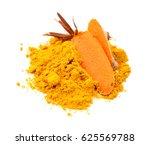 turmeric powder | Shutterstock . vector #625569788