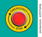 emergency stop button | Shutterstock .eps vector #625576436