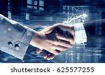 business partners greeting each ... | Shutterstock . vector #625577255