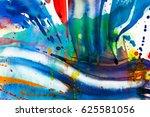 abstract watercolor texture.... | Shutterstock . vector #625581056