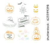 happy halloween celebration... | Shutterstock .eps vector #625599398