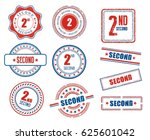 set of various2nd  second ... | Shutterstock .eps vector #625601042