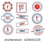 set of various 1st  first ... | Shutterstock .eps vector #625601225