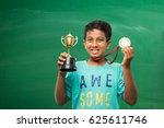 indian smart boy or school kids ... | Shutterstock . vector #625611746
