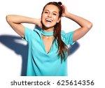portrait of beautiful smiling...   Shutterstock . vector #625614356