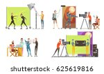 movie making concept with... | Shutterstock .eps vector #625619816