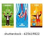 circus vertical banners with... | Shutterstock .eps vector #625619822
