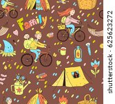 seamless pattern with cute...   Shutterstock . vector #625623272