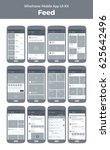 mobile app ui design. wireframe ...