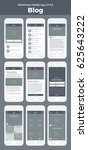 mobile app. wireframe ui kit... | Shutterstock .eps vector #625643222
