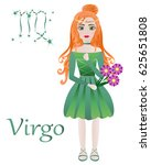 zodiac signs. virgo. vector... | Shutterstock .eps vector #625651808
