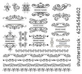 set of vector graphic elements... | Shutterstock .eps vector #625656602