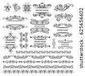 set of vector graphic elements... | Shutterstock .eps vector #625656602