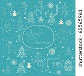 christmas background | Shutterstock .eps vector #62565961