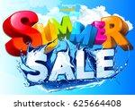 vector summer sale water wave | Shutterstock .eps vector #625664408