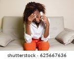 shocked african american woman... | Shutterstock . vector #625667636