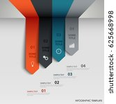 info graphic with abstract... | Shutterstock .eps vector #625668998
