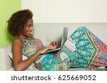 beautiful african american... | Shutterstock . vector #625669052
