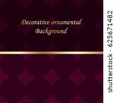 luxury colored ornamental... | Shutterstock .eps vector #625671482