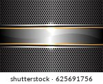 abstract silver gold line gold... | Shutterstock .eps vector #625691756