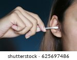 cotton bud cleaning ears for... | Shutterstock . vector #625697486