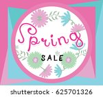 spring sale banner with... | Shutterstock .eps vector #625701326