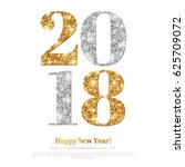 happy new year 2018 greeting... | Shutterstock .eps vector #625709072