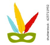 colorful carnival mask icon... | Shutterstock .eps vector #625711952