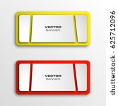 vector abstract banner with... | Shutterstock .eps vector #625712096