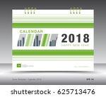 cover calendar 2018 template ... | Shutterstock .eps vector #625713476