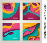 set of square banner templates... | Shutterstock .eps vector #625719932