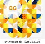 colorful circle elements.... | Shutterstock .eps vector #625732106