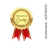 gold premium quality medal with ... | Shutterstock .eps vector #625742252