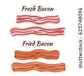 two types of bacon  pork  ... | Shutterstock .eps vector #625748096
