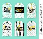spring nature trendy gift... | Shutterstock .eps vector #625748192