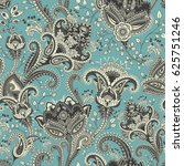 paisley floral seamless pattern.... | Shutterstock .eps vector #625751246