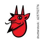 red devil head   Shutterstock .eps vector #625752776