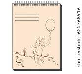 vector illustration of notepad... | Shutterstock .eps vector #625768916