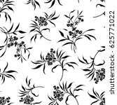 tiny flowers seamless pattern ... | Shutterstock .eps vector #625771022