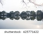 landscape with a lake and a... | Shutterstock . vector #625771622