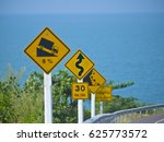downhill traffic signs with a... | Shutterstock . vector #625773572