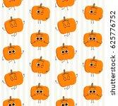 pumpkin  vector seamless... | Shutterstock .eps vector #625776752