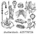 vector set of hand drawn new... | Shutterstock .eps vector #625778726